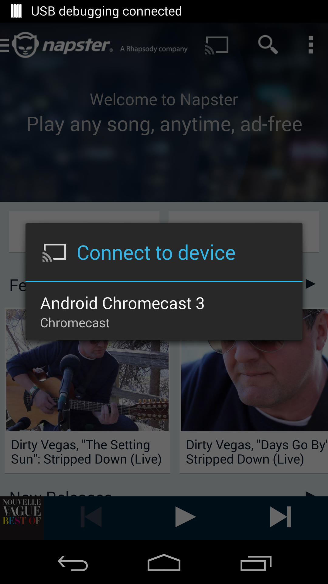 Rhapsody and Napster Add ChromeCast Support