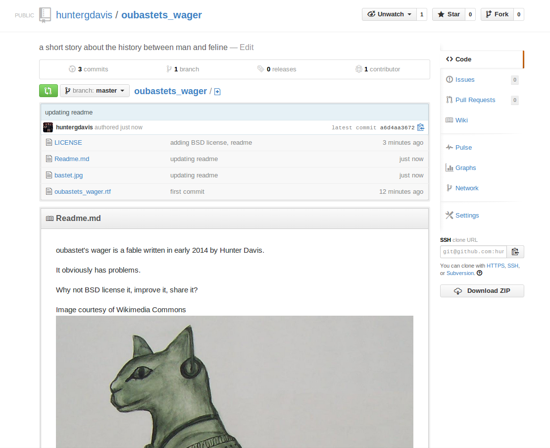 Open-Sourcing a Fable (Oubastet's Repository)